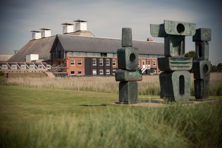 """Family Of Man"" by Barbera Hepworth at Snape Maltings, Suffolk."