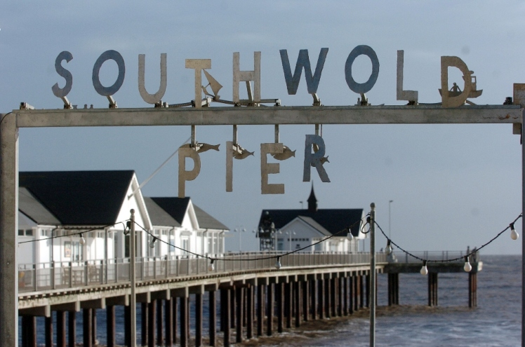 GLOSSYSouthwold pier advertising pics. Pic: Clifford Hicks.